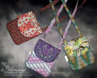 Three by Unthreaded by Chris - Polly Cross Body Pouch - Andrie Designs