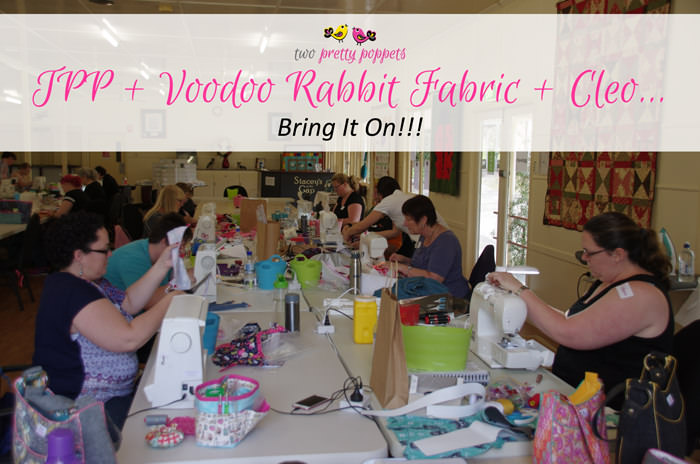 two pretty poppets will be teaching at Voodoo Rabbit Fabric - two pretty poppets