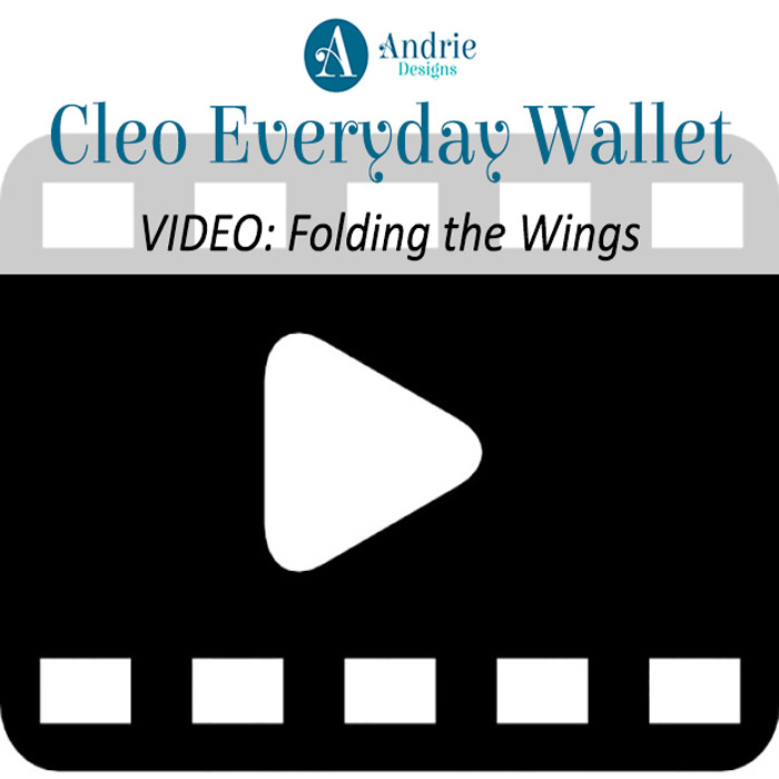 Cleo Everyday Wallet - Video - Folding the Wings - Andrie Designs