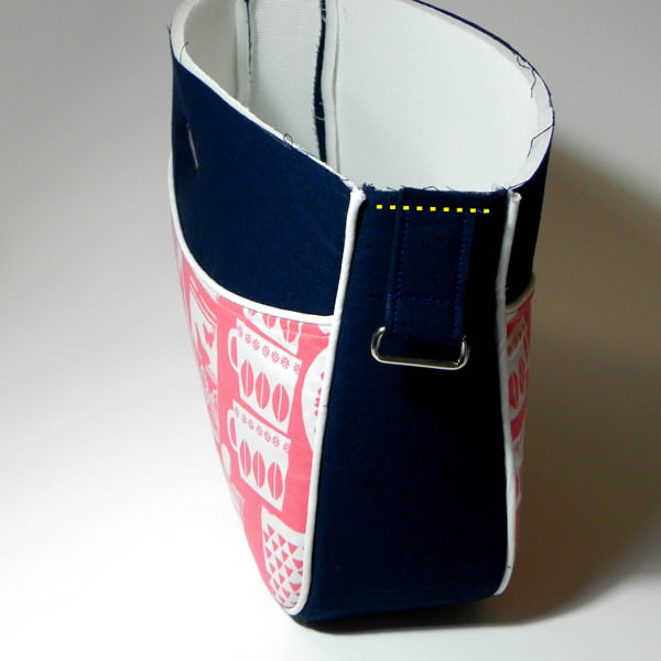 Basting is important - Carry All Flexi Clutch - Adding a Shoulder Strap: Option #1 - Andrie Designs