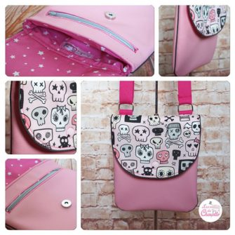 Pink skulls - Les Envies de Charlotte - Polly Cross Body Pouch - Andrie Designs