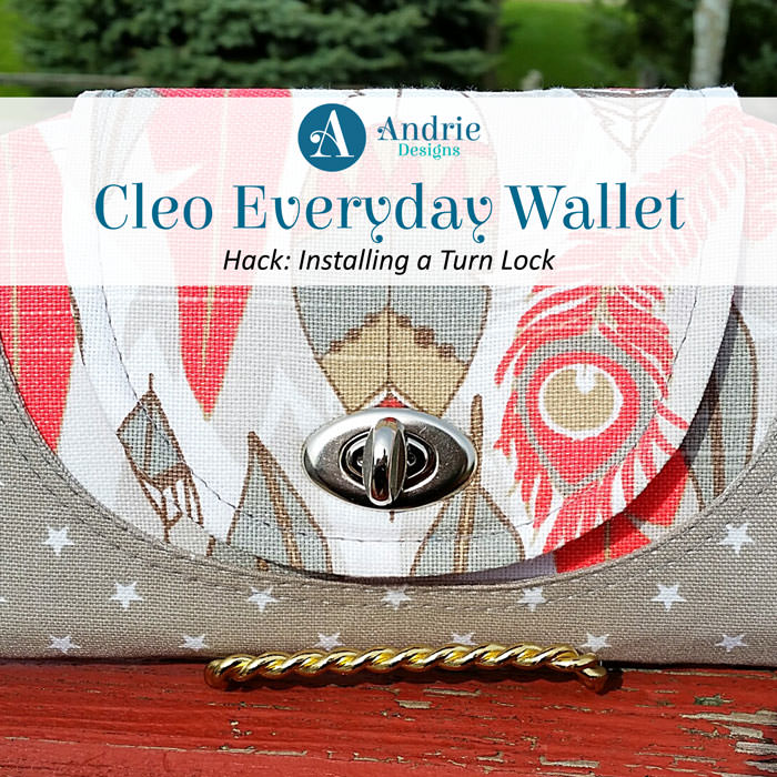 Cleo Everyday Wallet - Turn Lock Hack - Andrie Designs