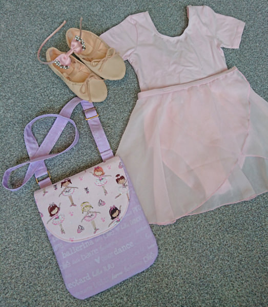 Ballet bag - All Sewn Up by Stacey - Polly Cross Body Pouch - Andrie Designs