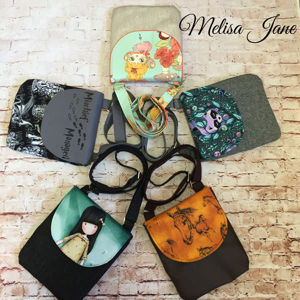 Five bags - Melisa Jane - Polly Cross Body Pouch - Andrie Designs