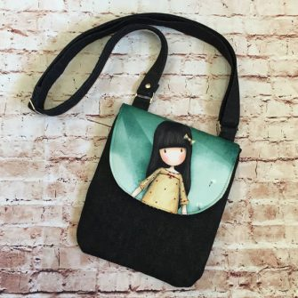 Black, girl - Melisa Jane - Polly Cross Body Pouch - Andrie Designs