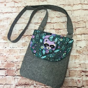 Raccoon - Melisa Jane - Polly Cross Body Pouch - Andrie Designs
