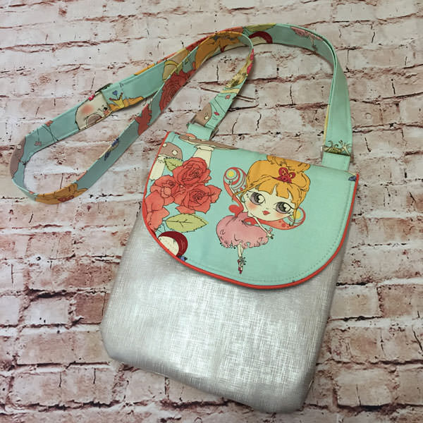 Silver girl - Melisa Jane - Polly Cross Body Pouch - Andrie Designs