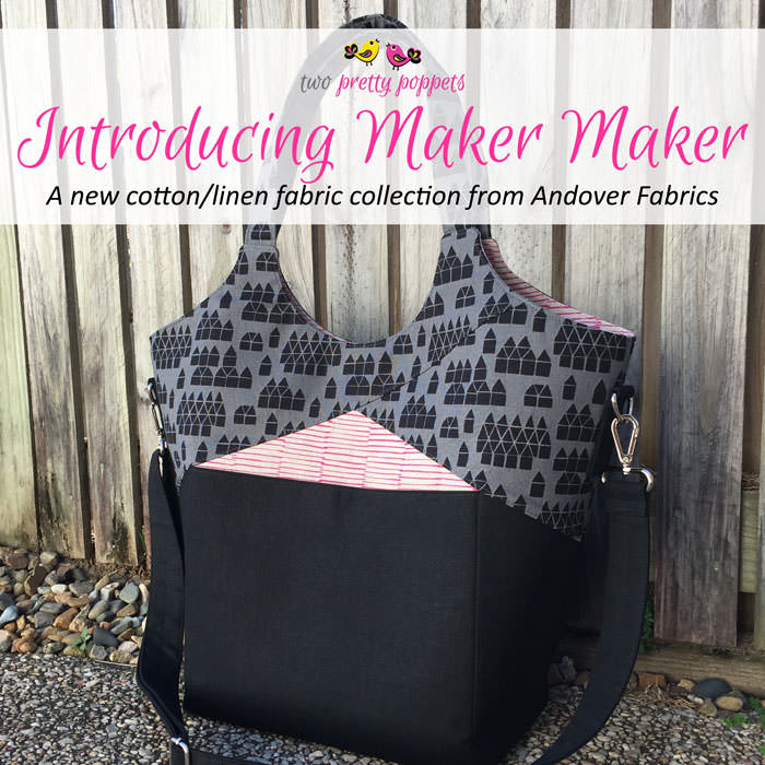 Introducing Maker Maker by Andover Fabrics - two pretty poppets