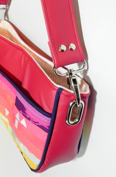 Side view of Carry All Flexi Clutch - Adding a Shoulder Strap: Option #3 - Andrie Designs