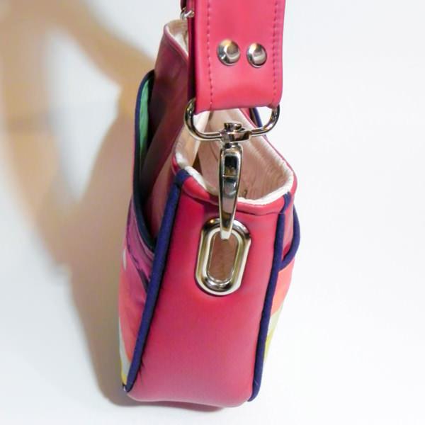 Close up of shoulder strap hack - Carry All Flexi Clutch - Adding a Shoulder Strap: Option #3 - Andrie Designs