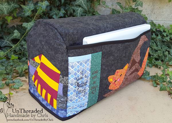 Back view of the Harry Potter-themed Made For Me Sewing Machine Cover - Andrie Designs