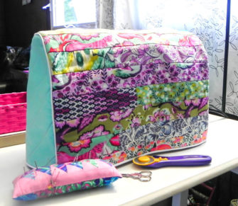Great Tula Pink scrap buster Made For Me Sewing Machine Cover - Andrie Designs