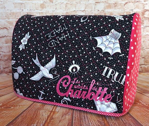 Stunning sewing-themed Made For Me Sewing Machine Cover - Andrie Designs