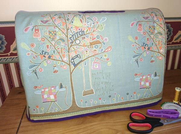Beautiful sewing-themed Made For Me Sewing Machine Cover - Andrie Designs