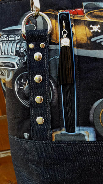 Close up view of the classic cars Classic Carryall Handbag & Tote - Andrie Designs