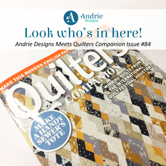 Creative's Tote in QC Magazine Issue #84 - Andrie Designs
