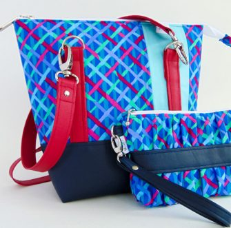 Coordinating Gather Me Up Clutch and a Classic Carryall Handbag & Tote - Andrie Designs