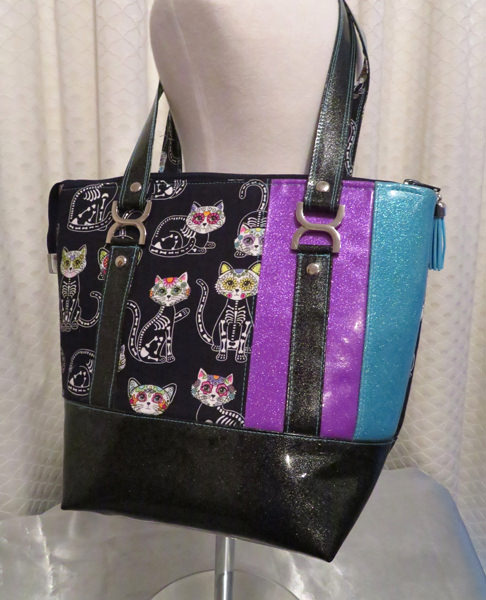 Skele-cat and glitter vinyl! Awesome! Classic Carryall Handbag & Tote - Andrie Designs