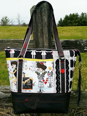 Front view of an absolutely stunning Classic Carryall Handbag & Tote - Andrie Designs