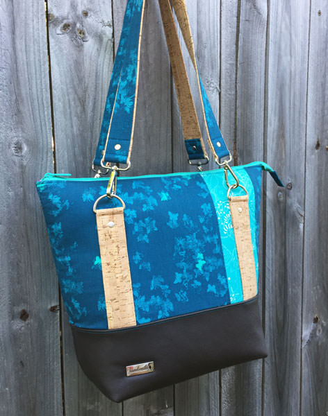 Love my teal, cork and leather Classic Carryall Handbag & Tote - Andrie Designs