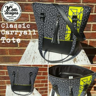 Love the pop of yellow on this Classic Carryall Handbag & Tote - Andrie Designs