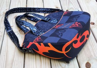 Side view of the Harley Davidson-themed Creative's Tote - Andrie Designs