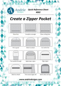 Andrie Designs - Create a Zipper Pocket Tutorial
