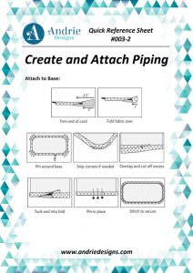 Andrie Designs - Create and Attach Piping Tutorial