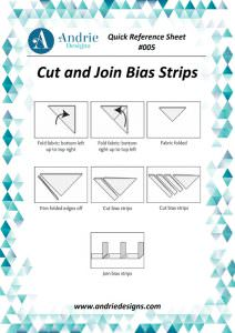 Andrie Designs - Cut and Join Bias Strips Tutorial