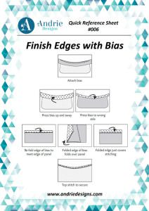 Andrie Designs - Finish Edges with Bias Tutorial