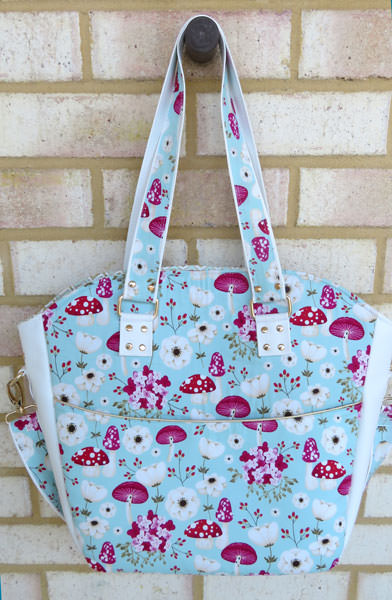 Beautiful field of mushrooms Creative's Tote - Andrie Designs