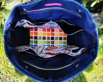 Inside view of the amazingly creative Creative's Tote - Andrie Designs