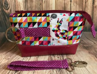 Pretty red and magenta Classic Clutch - Andrie Designs