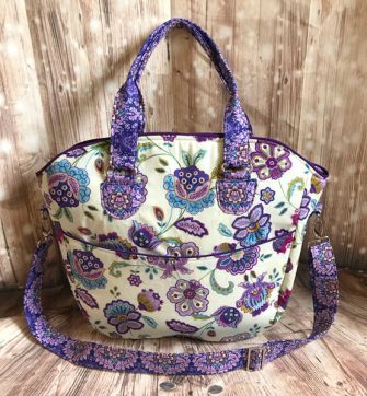 Beautiful purple floral Creative's Tote - Andrie Designs