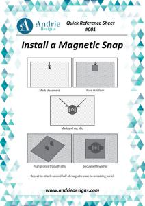 Andrie Designs - Install a Magnetic Snap Tutorial
