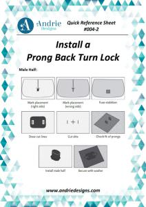 Andrie Designs - Install a Prong Back Turn Lock Tutorial