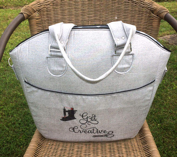Classic grey with a touch of embroidery! Creative's Tote - Andrie Designs