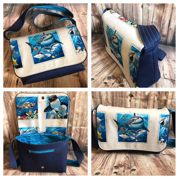 Good-to-Go Messenger Bag - Meet the Maker - Harley B Handmade - Andrie Designs