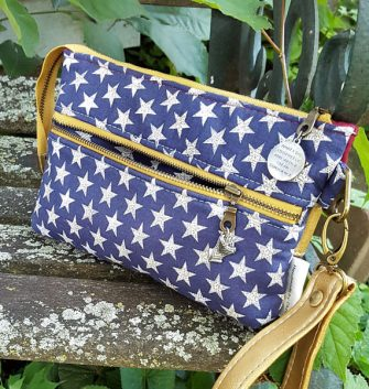 Back of the Wonder Woman Gather Me Up Clutch - Andrie Designs