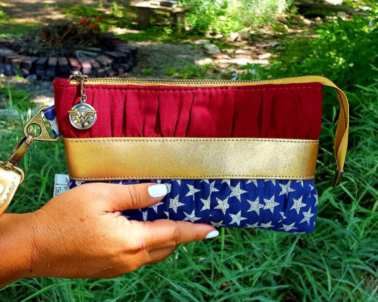 Hello Wonder Woman! Gather Me Up Clutch - Andrie Designs