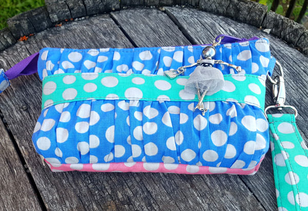 Polka dots galore on this beautiful Gather Me Up Clutch - Andrie Designs