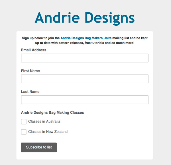 Andrie Designs - Frequently Asked Questions