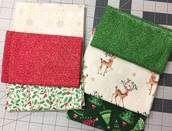 Gorgeous chosen fabrics - Christmas in July - Andrie Designs