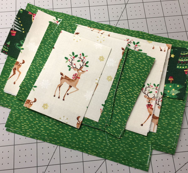 Green Classic Clutch cut and fused - Christmas in July - Andrie Designs