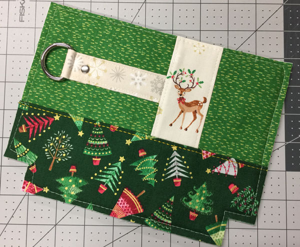Stunning green Classic Clutch progress shot - Christmas in July - Andrie Designs