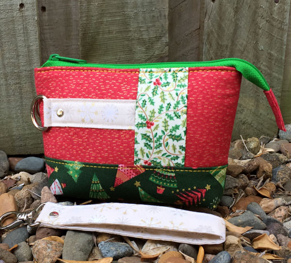 Gorgeous front side of the red Classic Clutch - Christmas in July - Andrie Designs