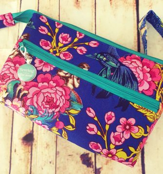 Vivid pink and blue Gather Me Up Clutch - Andrie Designs