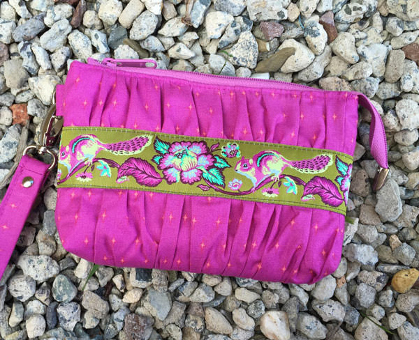 Tula Pink-inspired Gather Me Up Clutch - Andrie Designs