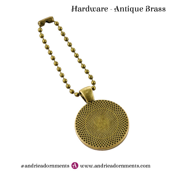 Antique Brass Swing Tag - Andrie Adornments