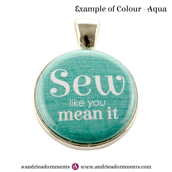 Example of aqua colour - Andrie Adornments